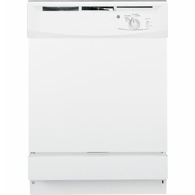 "24"" 64 dBA Built-In Dishwasher with Front Controls Finish: White"