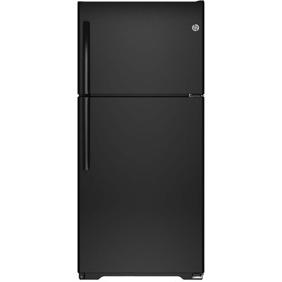 18.2 cu. ft. Energy Star Top-Freezer Refrigerator Finish: Black