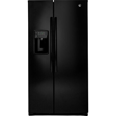 25.3 cu. ft. Energy Star Side-by-Side Refrigerator Finish: Black