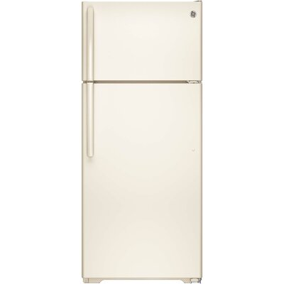 17.5 cu. ft. Energy Star Top-Freezer Refrigerator Finish: Bisque