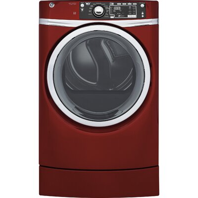 8.3 cu. ft. High Efficiency Electric Dryer with Steam Color: Red