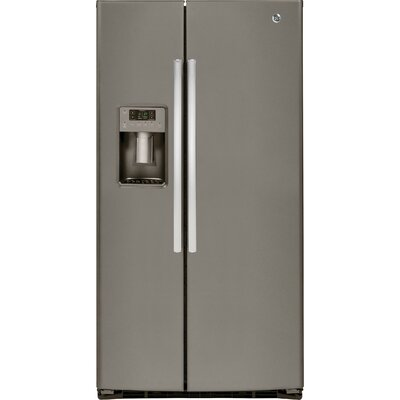 25.3 cu. ft. Energy Star Side-by-Side Refrigerator Finish: Slate