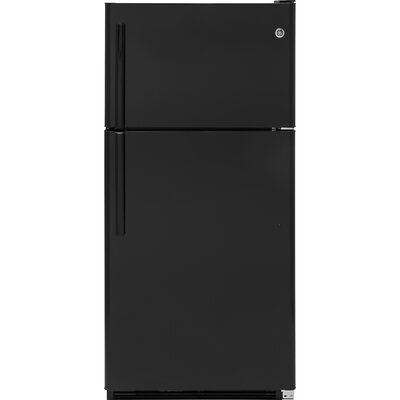 20.8 cu. ft. Top Freezer Refrigerator Finish: Black/Black