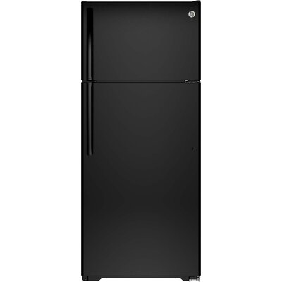 17.5 cu. ft. Energy Star Top-Freezer Refrigerator Finish: Black
