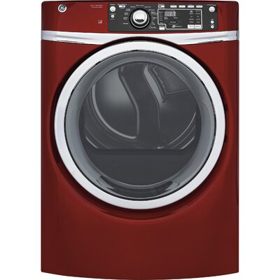 8.3 cu. ft. High Efficiency Gas Dryer with Steam Color: Red