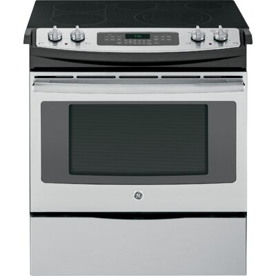 """30"""" Slide-in Electric Range with Griddle Finish: Stainless Steel"""