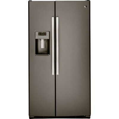 25.3 cu. ft. Side-by-Side Refrigerator Finish: Slate
