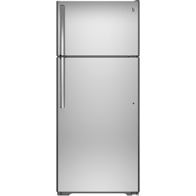 17.5 cu. ft. Top Freezer Refrigerator with Autofill Pitcher Finish: Stainless Steel