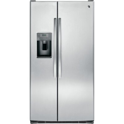 25.3 cu. ft. Side-by-Side Refrigerator Finish: Stainless Steel