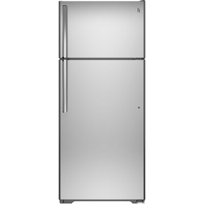 17.5 cu. ft. Energy Star Top-Freezer Refrigerator Finish: Stainless Steel