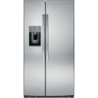 25.3 cu. ft. Energy Star Side-by-Side Refrigerator Finish: Stainless Steel