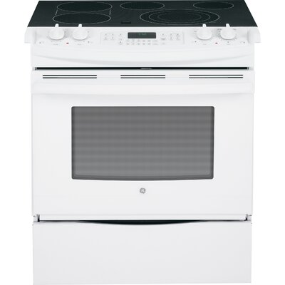 """30"""" Slide-in Electric Range with Griddle Finish: White"""