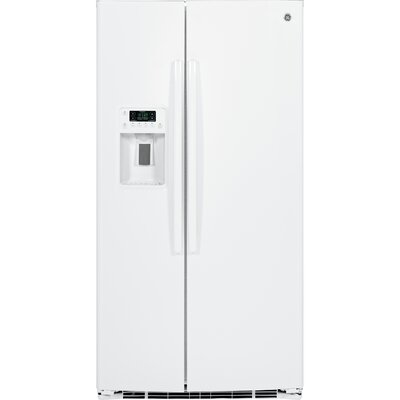 25.3 cu. ft. Energy Star Side-by-Side Refrigerator Finish: White