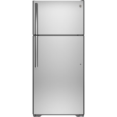 17.6 cu. ft. Energy Star Top-Freezer Refrigerator Finish: Silver