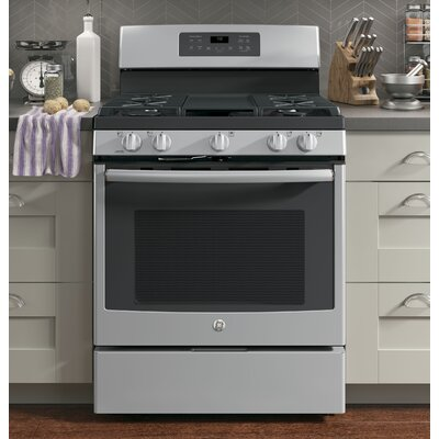 """30"""" Free-Standing Gas Range with Griddle Finish: Stainless Steel"""