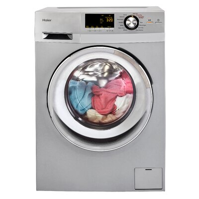 2.0 cu. ft. Front Load Washer and Electric Dryer Finish: Silver