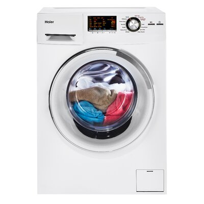 2.0 cu. ft. Front Load Washer and Electric Dryer Finish: White
