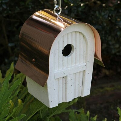 Twitter Junction 10 in x 7 in x 6 in Birdhouses Color: White