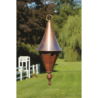 Jennie Lynn 23 in x 9 in x 9 in Birdhouse Color: Mahogany with Spun Copper Roof