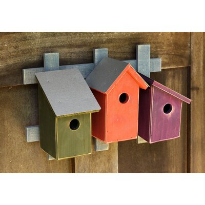 Trellis Trio 16 in x 11 in x 6 in Birdhouses Color: Traditional