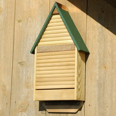 22 in x 12 in x 4 in Bat House Color: Natural Cypress with Green Roof