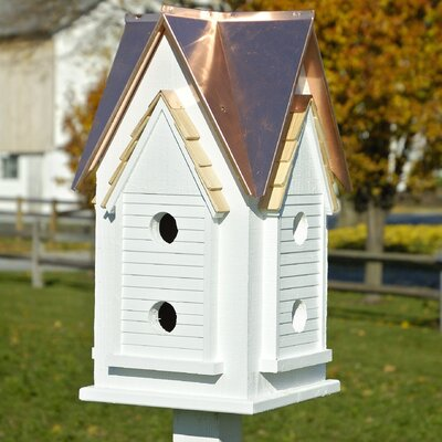27 in x 15 in x 15 in Purple Martin House Finish: White with Bright Copper Roof