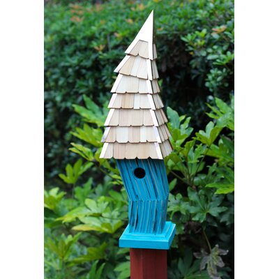 Birdiwampus 38 in x 8 in 8 in Birdhouse Color: Turquoise