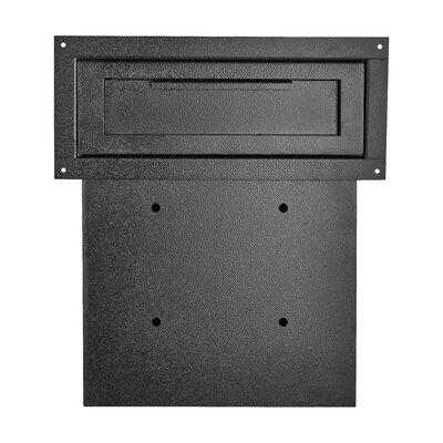 Through The Door Locking Drop Box Mailbox Color: Black