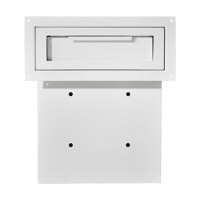 Through The Door Locking Drop Box Mailbox Color: White