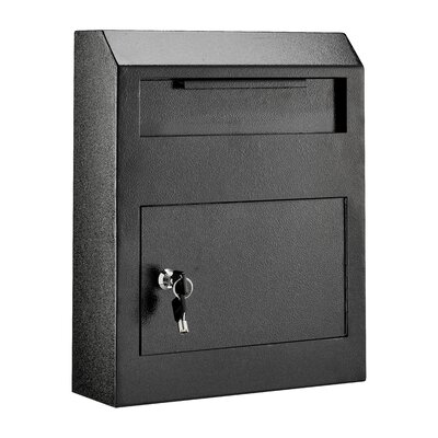 Heavy Duty Secured Locking Wall Mounted Mailbox Mailbox Color: Black