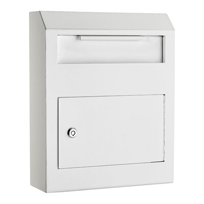 Heavy Duty Secured Locking Wall Mounted Mailbox Mailbox Color: White