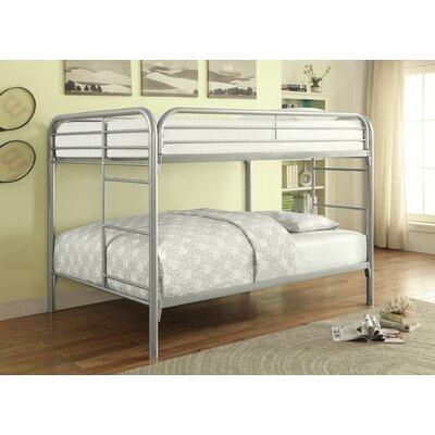 Sacramento Full over Full Bunk Bed Color: Silver