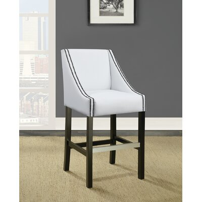 Labbe Bar Stool Upholstery: White