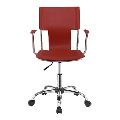 Azura Office Chair Color: Red