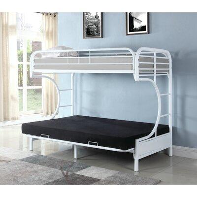 Garey Full Futon Bunk Bed Bed Frame Color: White