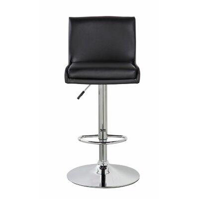 Lia Adjustable Height Swivel Bar Stool Color: Jet Black