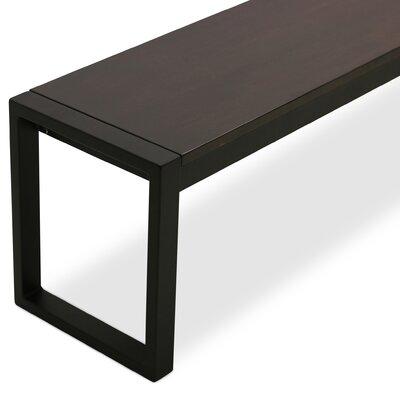 Gerrod Wood Bench Color: Onyx Maple