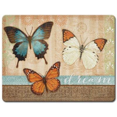 Butterflies Glass Cutting Board