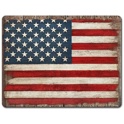 Painted American Flag Glass Cutting Board
