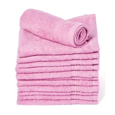 Peabody 100% Cotton Washcloth Color: Purple