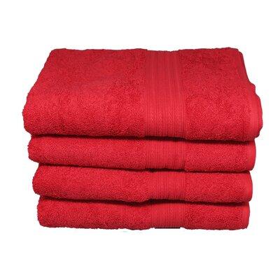Peabody 100% Cotton Hand Towel Color: Tomato