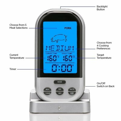 Wireless BBQ Digital Meat Thermometer