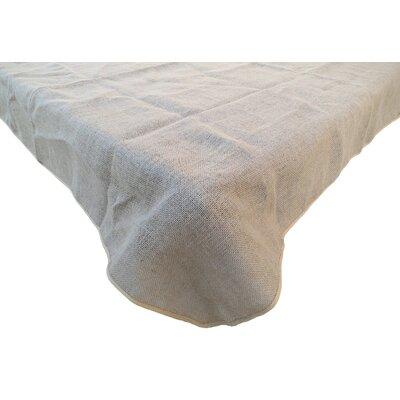 "Redford Burlap Tablecloth Size: 156""W x 90""L"
