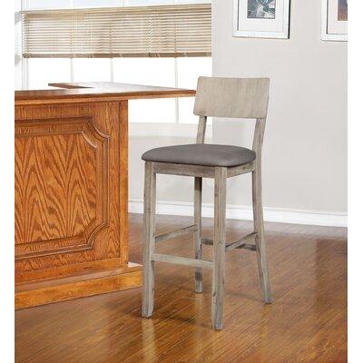 "Bonifay Bar & Counter Stool Color: Gray Wash, Seat Height: Bar Stool (30"" Seat Height)"