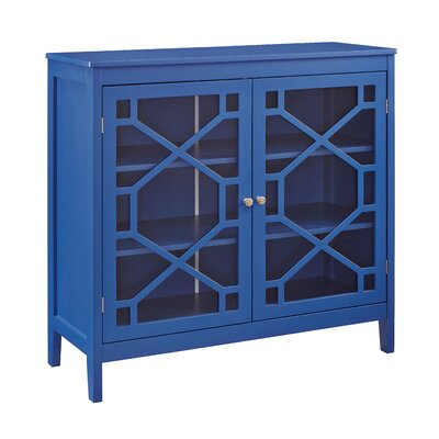 Zauber Large 2 Door Accent Cabinet Color: Blue