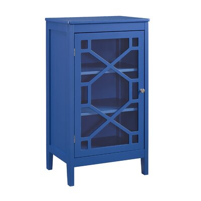 Zauber Small 1 Door Accent Cabinet Color: Blue