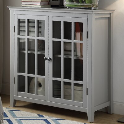 Clarissa 2 Door Accent Cabinet Color: Gray