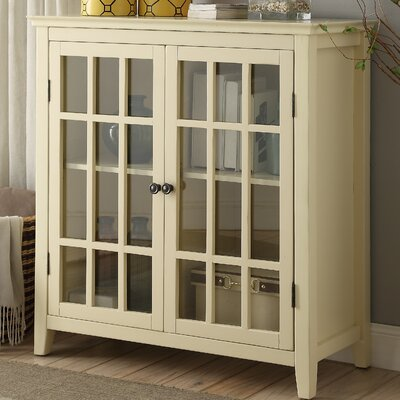 Clarissa 2 Door Accent Cabinet Color: Pale Yellow