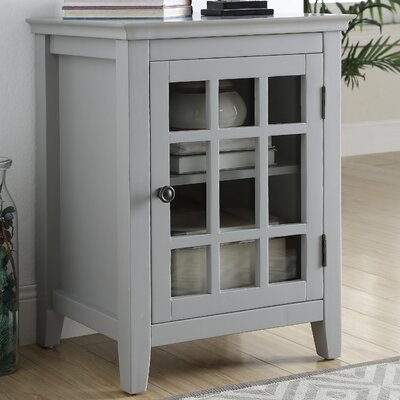 Tuftonboro 1 Door Accent Cabinet Color: Gray