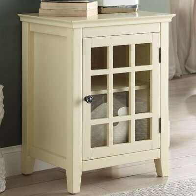 Tuftonboro 1 Door Accent Cabinet Color: Pale Yellow